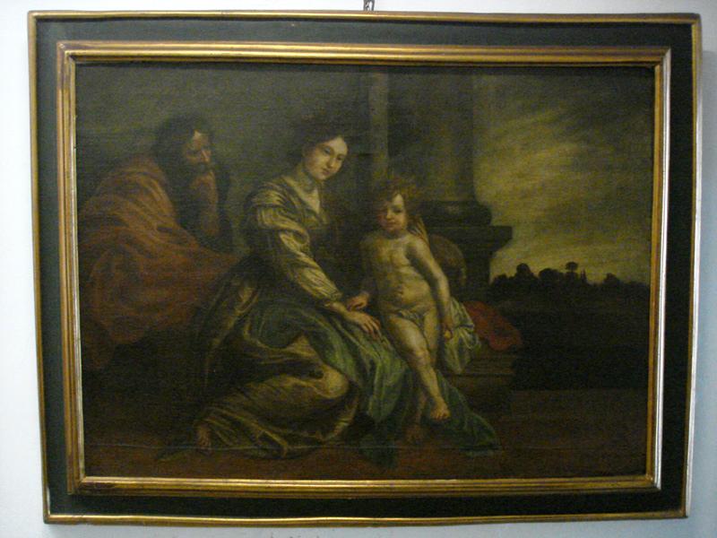 """""""La Sacra Famiglia"""" olio su tela con cornice originale fine '600"""